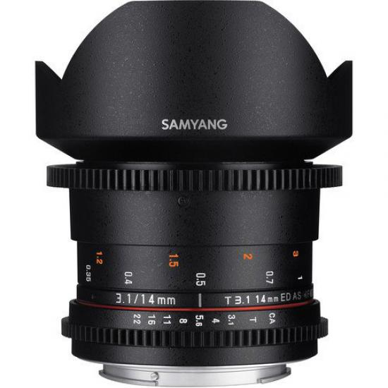 Samyang 14mm T3.1 ED AS IF UMC II Full Frame Lens (Canon EF)